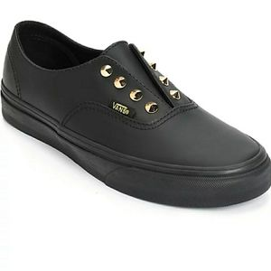 Vans Leather Gore Studs Slip On Shoes